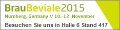 Brau Beviale from 10th to 12th November 2015, Nurnberg