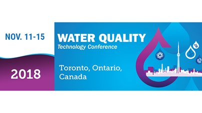 MEET US AT THE Water Quality Technology Converence 2018 in Toronto, Canada!